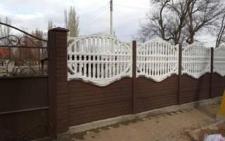 Как покрасить забор из бетона?