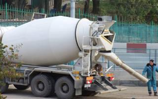 Высота подачи бетона из миксера