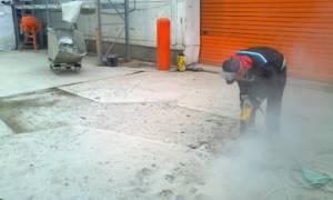 Демонтаж бетонного пола технология