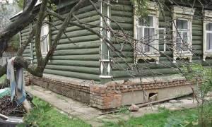Новый фундамент под старый деревянный дом