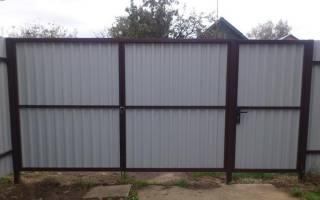 Как сварить ворота на забор?