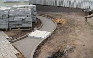 Укладка брусчатки на бетонное основание технология