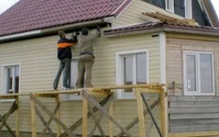 Установка сайдинга своими руками на деревянный дом