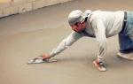 Как затереть бетонный пол своими руками?