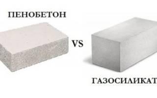 Пеноблоки и газосиликатные блоки разница