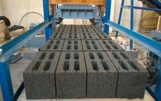 Производство бетонных блоков в домашних условиях