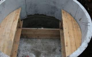 Овощная яма из бетонных колец