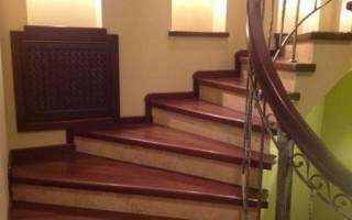 Крепление деревянных ступеней к бетонной лестнице