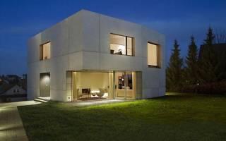 Быстровозводимые дома из бетонных панелей