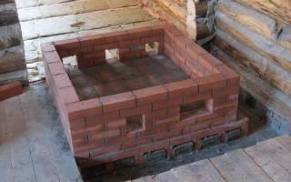 Фундамент под печку в деревянном доме