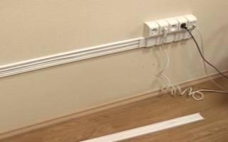 Как закрепить кабель канал на бетонной стене?