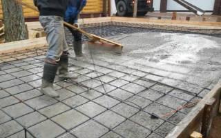Как залить фундаментную плиту под дом?