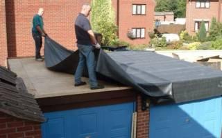 Чем покрыть крышу гаража из бетонных плит?