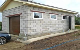 Как построить гараж из блоков своими руками?