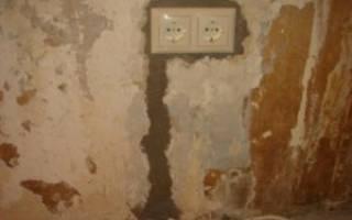 Чем заделать штробу в бетонной стене?