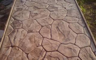 Печатный бетон технология и рецептура