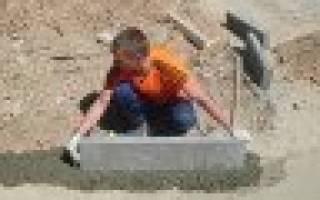Изготовление бордюров из бетона своими силами