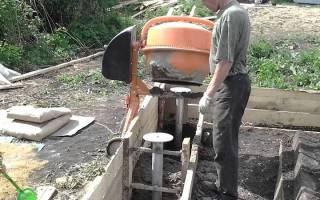 Заливка фундамента бетономешалкой своими руками