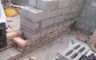 Как класть шлакоблок на фундамент?