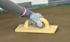 Как железнить бетонный пол?