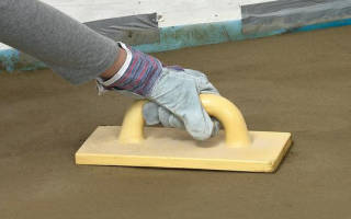 Как железнить бетон?