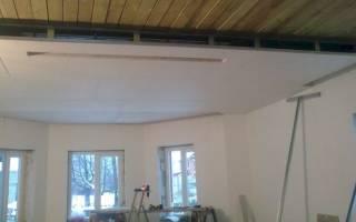 Как обшить потолок гипсокартоном в деревянном доме?