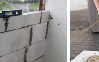 Как сложить стену из пеноблоков?