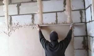 Выравнивание бетонных стен своими руками