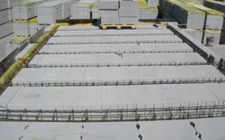 Часторебристое сборное перекрытие с применением газобетонных блоков