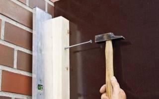 Крепление деревянного бруса к бетонной стене