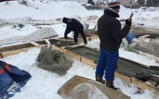 Заливка бетона зимой добавки