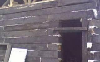 Как построить дом из шпал?