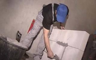 Как построить стену из пеноблоков в квартире?