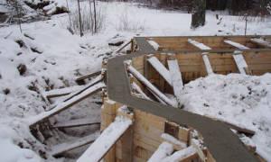 Обогрев фундамента зимой