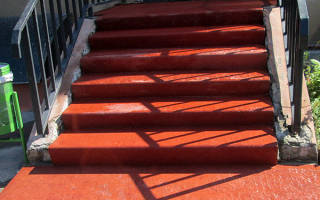 Отделка ступеней бетонной лестницы на улице