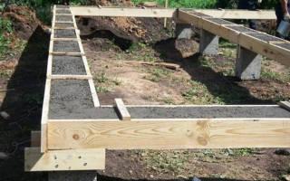 Как сделать столбчатый фундамент под баню?