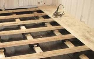 Технология укладки деревянного пола на лаги