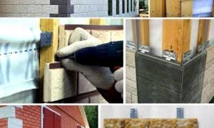 Фасадная плитка с металлическими креплениями своими руками