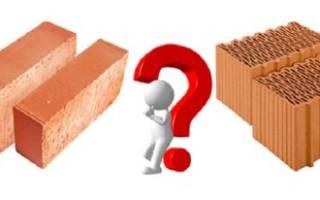 Кирпич или керамический блок что лучше?
