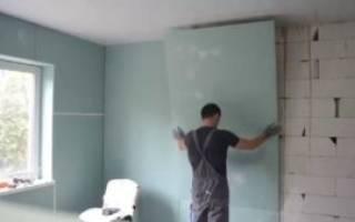 Как закрепить ГКЛ на стену без профиля?