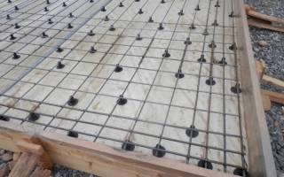 Укладка арматуры в плитный фундамент