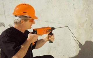 Как просверлить железобетонную стену?