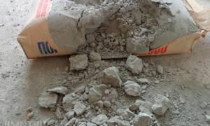 Можно ли использовать затвердевший цемент в мешке?